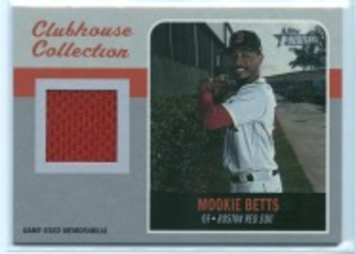 Photo of 2019 Topps Heritage Clubhouse Collection Relics #CCRMB Mookie Betts HN