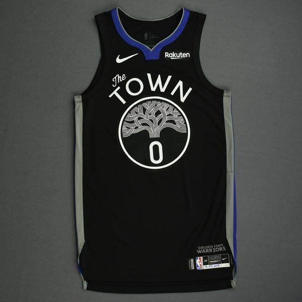Image of D'Angelo Russell - Golden State Warriors - Christmas Day' 19 - Game-Worn City Edition Jersey - Scored 20 Points
