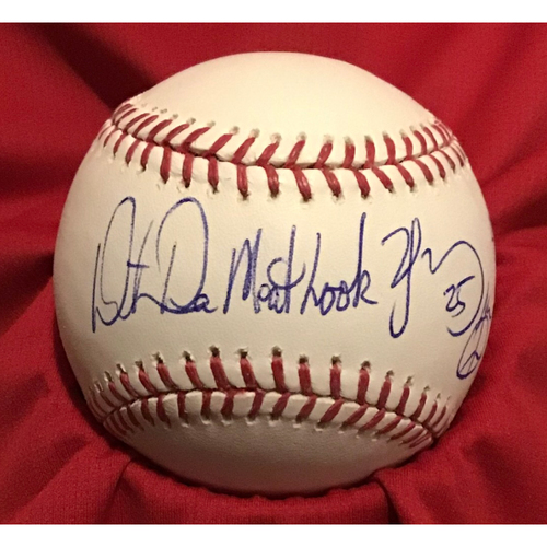 Photo of Dmitri Young Autographed Baseball