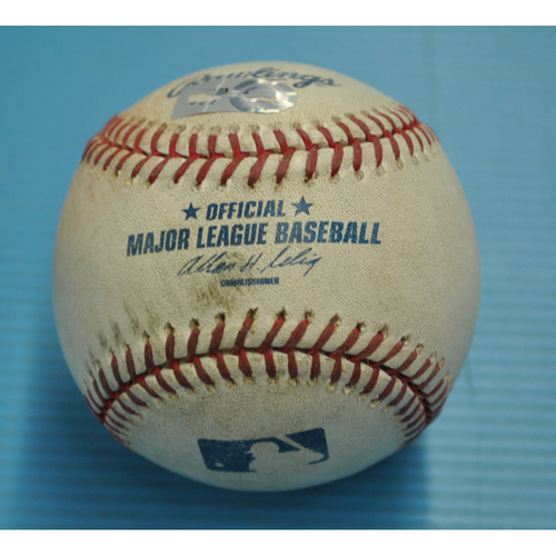 Photo of Game-Used Baseball - Pitcher - Matt Garza, Batter - Yadier Molina - RBI Single - Albert Pujols 2,000th Career Hit Game - 7/29/2011
