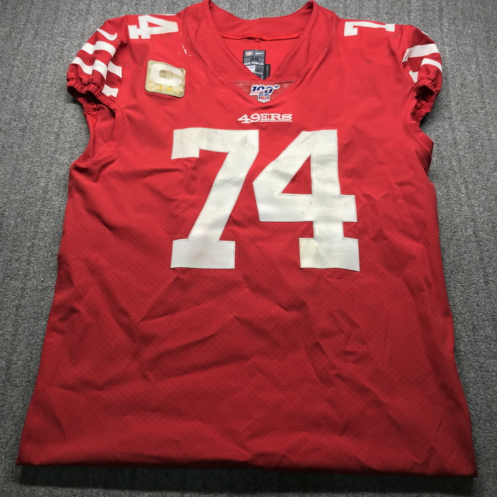 NFL Auction   STS - 49ers Joe Staley Game Used Jersey (11/11/19 ...