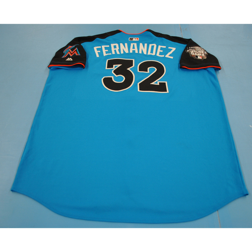 Photo of Game-Used Batting Practice Jersey - 2017 All-Star Futures Game - Alex Fernandez - Size 52