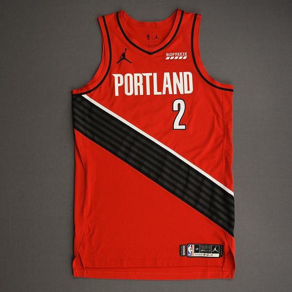 Image of Rondae Hollis-Jefferson - Portland Trail Blazers - Game-Worn Statement Edition Jersey - Dressed, Did Not Play (DNP) - 2021 NBA Playoffs
