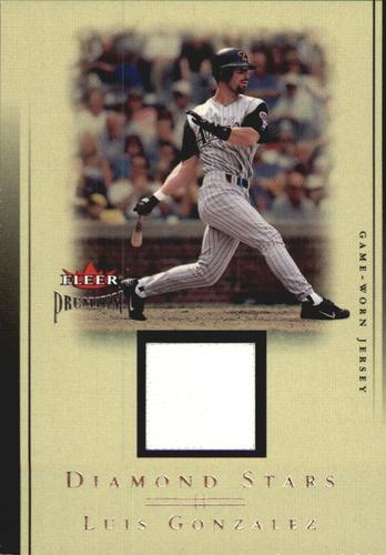 Photo of 2002 Fleer Premium Diamond Stars Game Used #10 Luis Gonzalez Jsy
