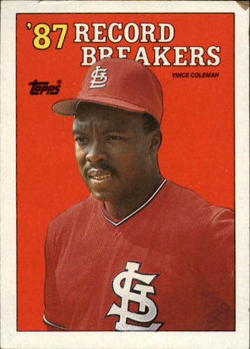 Photo of 1988 Topps #1 Vince Coleman RB
