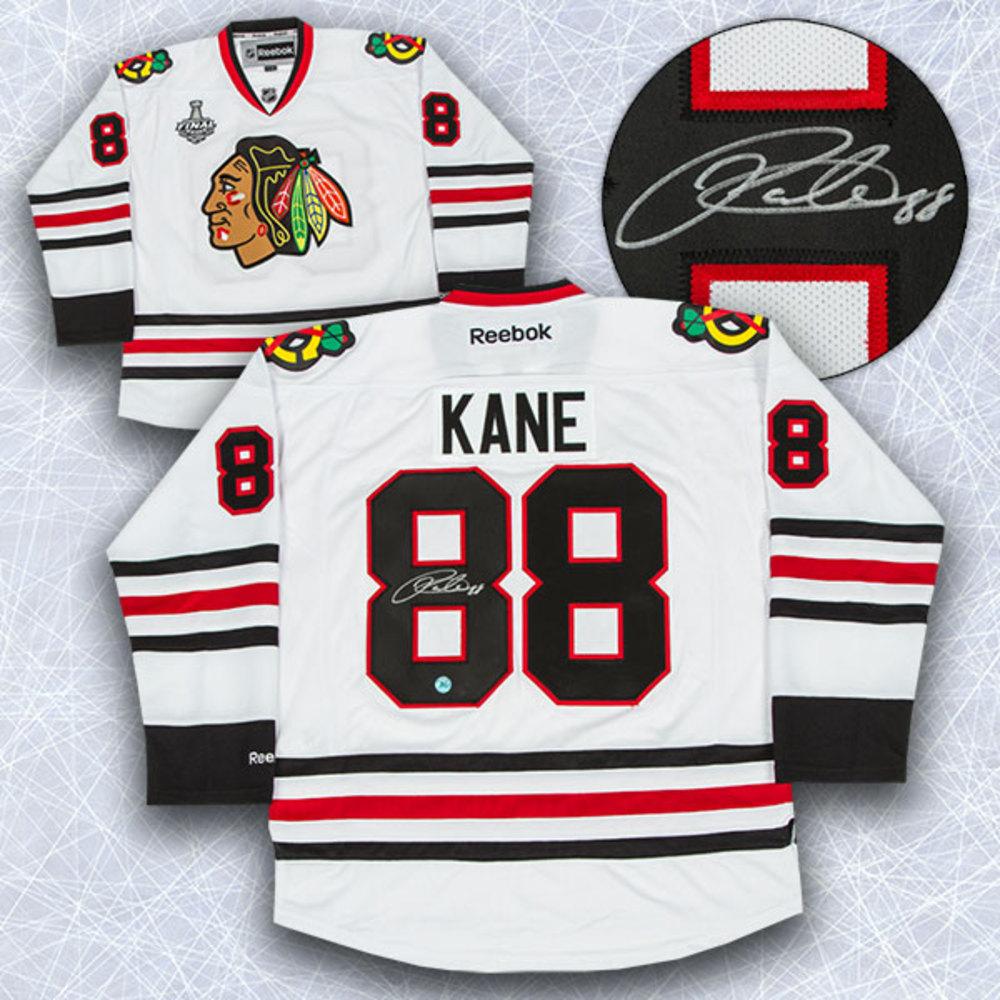 Patrick Kane Chicago Blackhawks Autographed Stanley Cup Reebok Premier Jersey