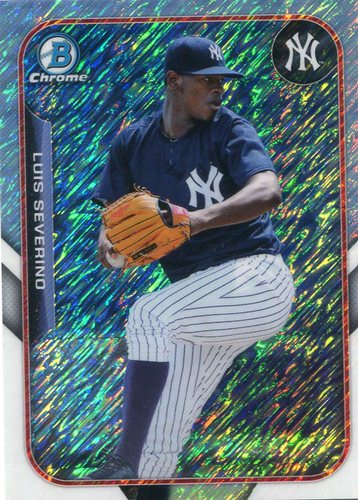 Photo of 2015 Bowman Chrome Farm's Finest Minis #FFMLSE Luis Severino