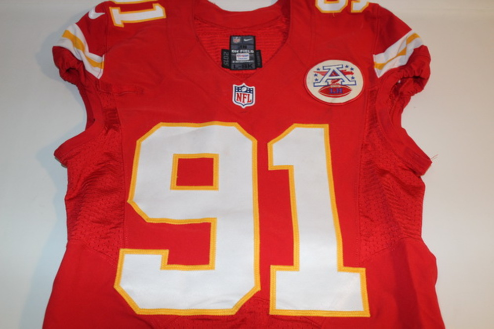 NFL Auction | BCA - CHIEFS TAMBA HALI GAME WORN AND SIGNED CHIEFS ...