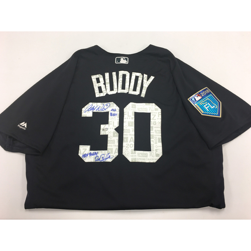 Photo of BUDDY Jersey #30 - Spring Training Worn Detroit Tigers Jersey Autographed and Inscribed by Alex Wilson and Ron Gardenhire (MLB Authentic)