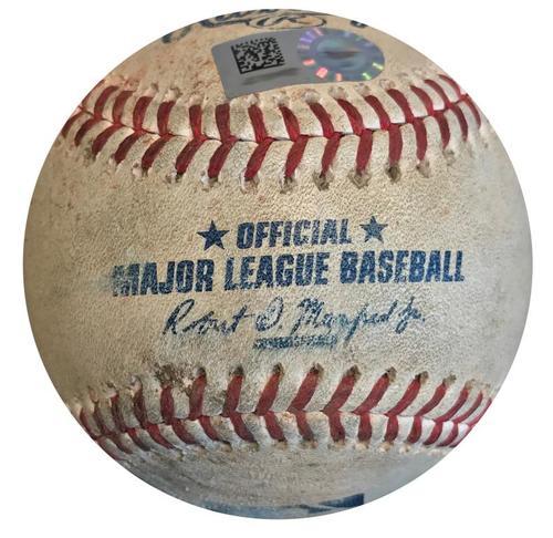 Photo of Game-Used Baseball from Pirates vs. White Sox on 5/16/18 - Mercer Walk, Bell RBI Single