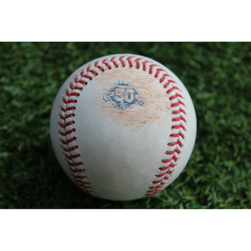 Photo of Game-Used Baseball: Kyle Schwarber 225th Career Hit (CHC @ KC - 8/7/18)