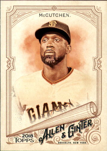 Photo of 2018 Topps Allen and Ginter #184 Andrew McCutchen