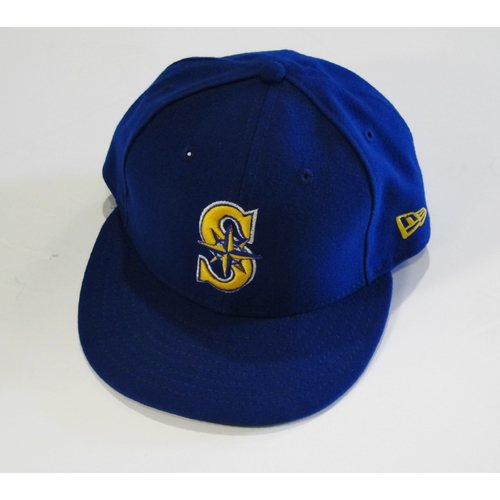 Photo of Seattle Mariners Robinson Cano Team Issued 2017 Blue Cap