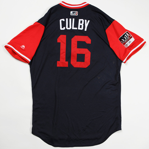 "Photo of Charlie ""Culby"" Culberson Atlanta Braves Game-Used Jersey 2018 Players' Weekend Jersey"
