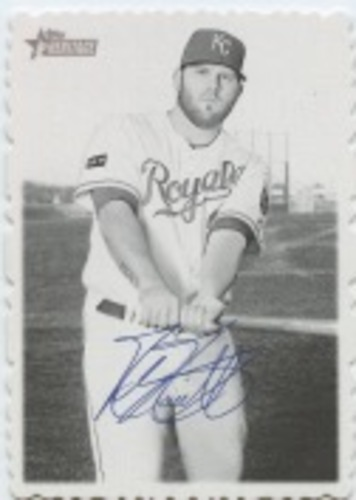 Photo of 2018 Topps Heritage High Number '69 Topps Deckle Edge #14 Mike Moustakas