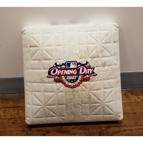 Photo of Game-Used Opening Day Base: Arizona Diamondbacks at Colorado Rockies - 3rd Base Used in Innings 1-4 - 4/2/07