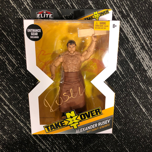 Photo of Rusev SIGNED Elite Series NXT Action Figure