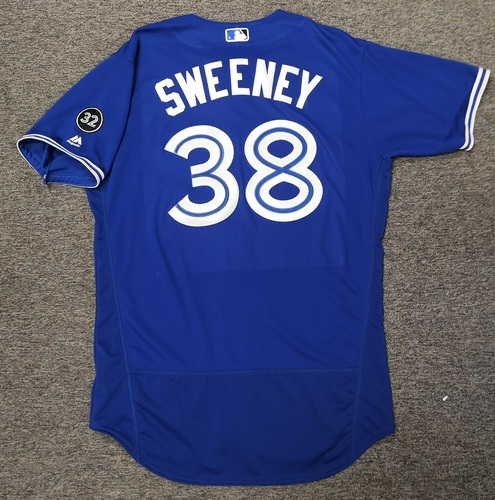 Photo of Authenticated Game Used Jersey - #38 Darnell Sweeney (June 30, 18). Size 46