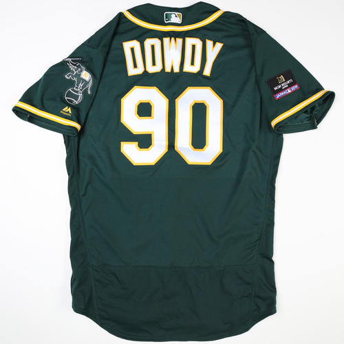 Photo of 2019 Japan Opening Day Series - Game Used Jersey - Jeremy Dowdy, Oakland Athletics at Nippon Ham Fighters -3/17/2019