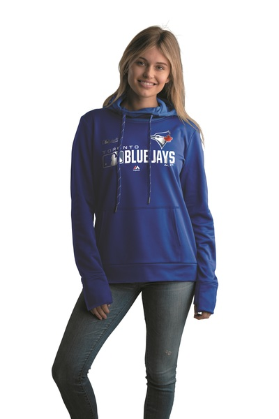 Toronto Blue Jays Women's Authentic Collection Royal Dugout Hoodie by Majestic