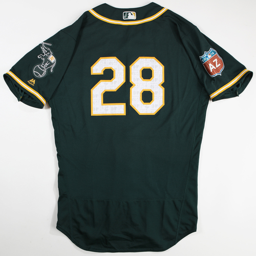 Photo of 2016 Spring Training - Spring Training Game Used Jersey - Eric Sogard (Athletics)- Size- 44