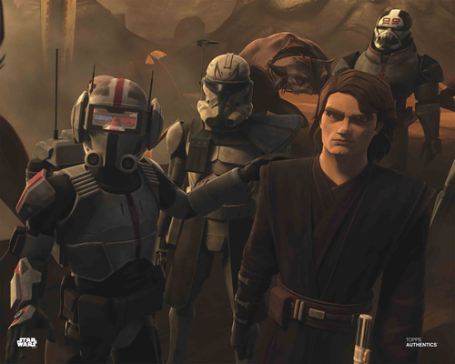 Anakin Skywalker, Captain Rex and Bad Batch Clone Troopers