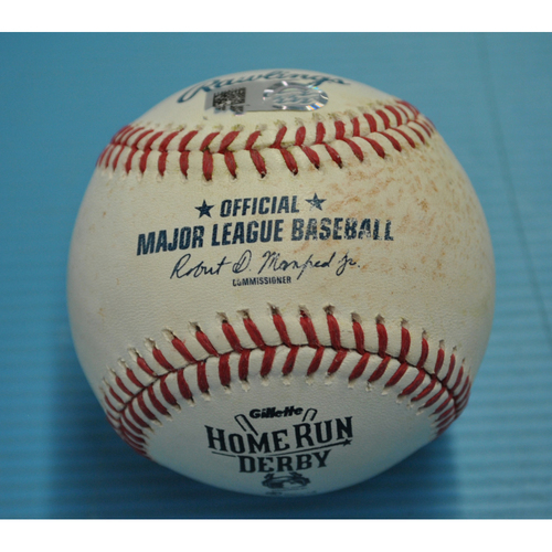 Photo of Game-Used Baseball - 2015 Home Run Derby, Celebrating 30 Years 1985-2015, Albert Pujols, 2nd Round, Out - 7/13/2015