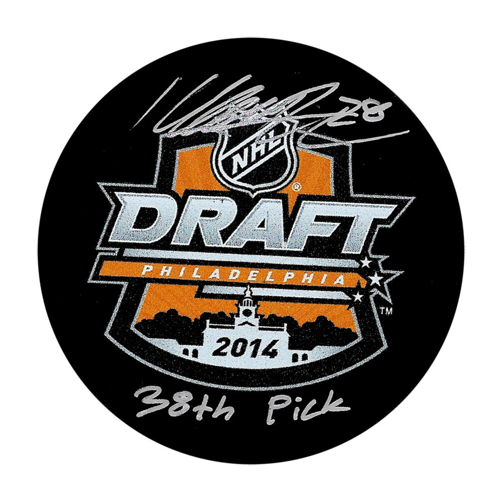 Marcus Pettersson Autographed 2014 NHL Entry Draft Puck w/38TH PICK Inscription