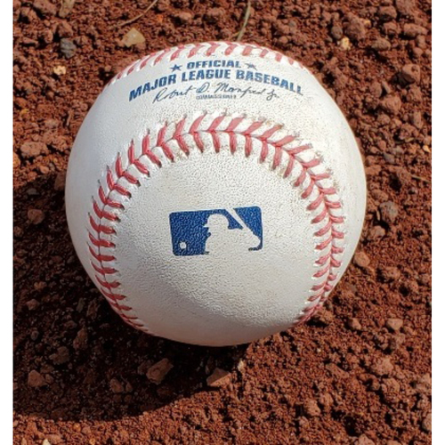Photo of 2021 Phillies Game-Used Baseball - Jackie Bradley Jr. 2-Run Home Run (101st Career)