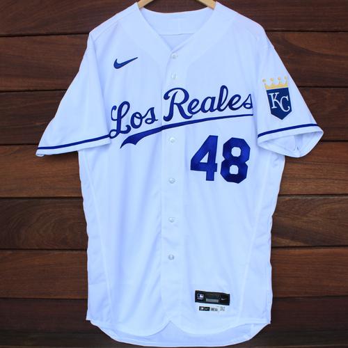 Photo of Game-Used Los Reales Jersey: Sebastian Rivero #48 (SEA@KC 9/17/21) - Size 44