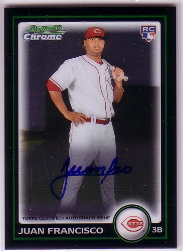 Photo of 2010 Bowman Chrome #215A Juan Francisco AU