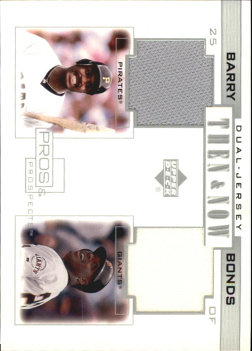 Photo of 2001 Upper Deck Pros and Prospects Then and Now Game Jersey #TNB Barry Bonds