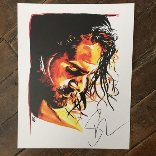 Seth Rollins SIGNED 11 x 14 Rob Schamberger Print