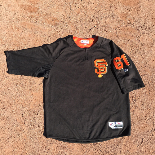 San Francisco Giants - 2017 Game-Used Batting Practice Jersey Worn by #61 Josh Osich (Size: XL)