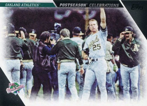 Photo of 2017 Topps Update Postseason Celebration #PC9 Oakland Athletics
