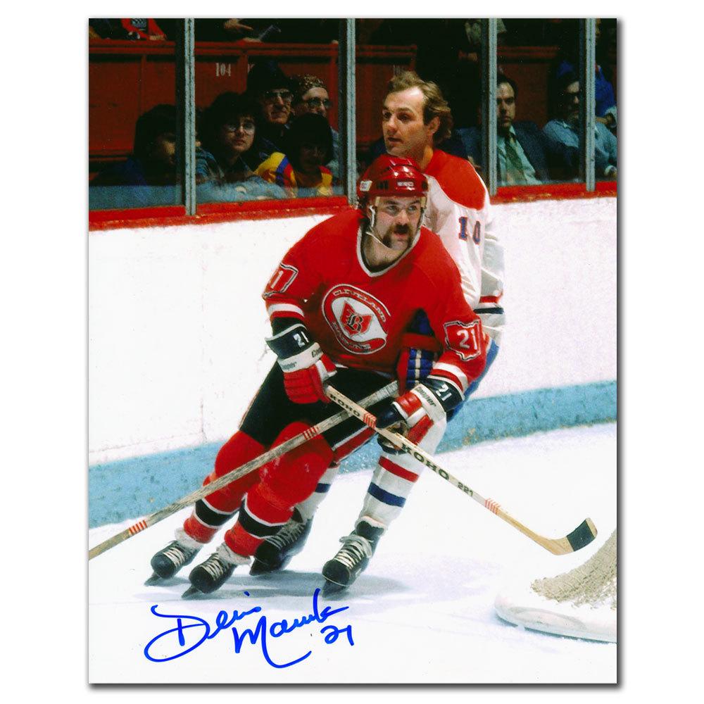 Dennis Maruk Cleveland Barons vs. LAFLEUR Autographed 8x10