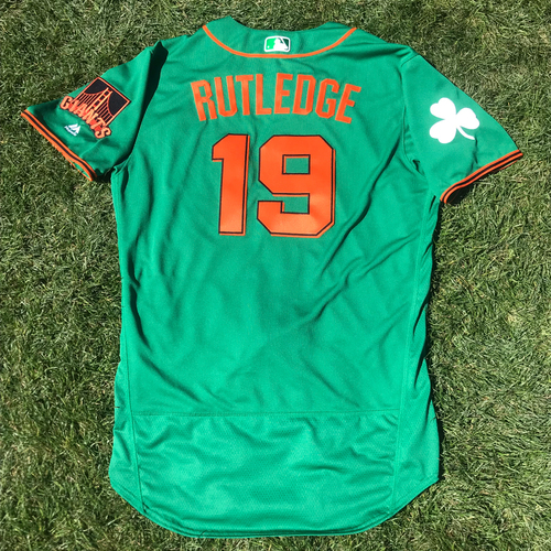 Photo of San Francisco Giants - 2018 St. Patrick's Day - Team Issued Jersey - Josh Rutledge