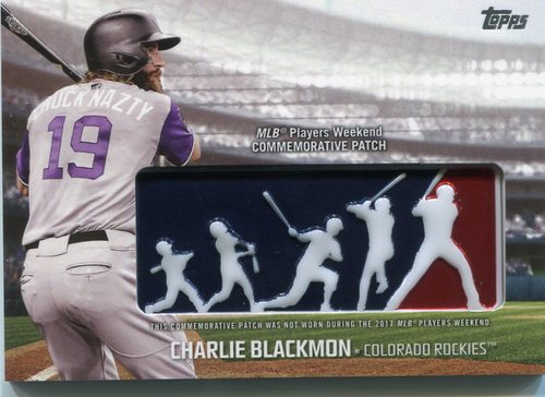 Photo of 2018 Topps Players Weekend Patches #PWPCL Charlie Blackmon