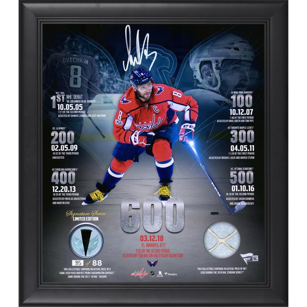 Alex Ovechkin Washington Capitals Framed Autographed 15\