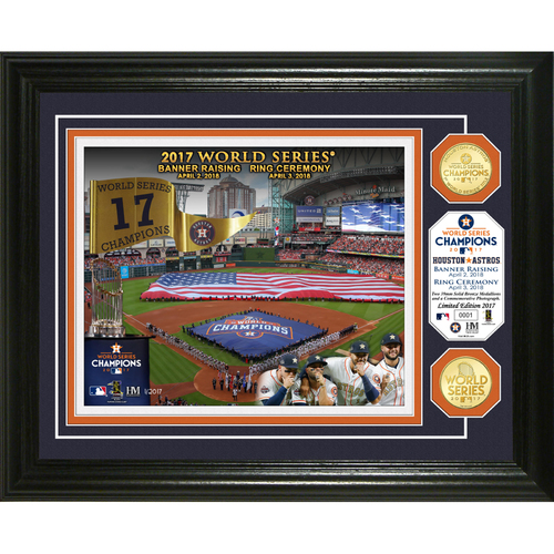 Photo of Serial #1! Houston Astros 2017 Banner Raising and Ring Ceremony Bronze Coin Photo Mint
