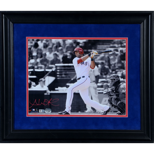 "Photo of Alex Rios Texas Rangers Framed Autographed 11"" x 14"" Spotlight Photo"