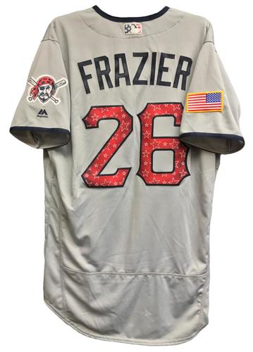 Photo of Adam Frazier Team-Issued 2018 Stars and Stripes Jersey