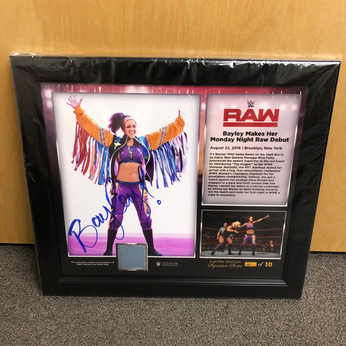 Bayley SIGNED RAW Signature Series Ring Canvas Plaque (#4 of 10)