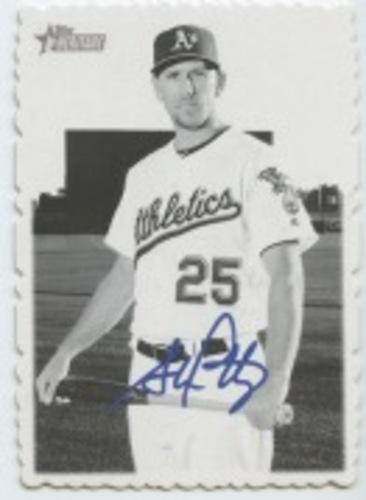 Photo of 2018 Topps Heritage High Number '69 Topps Deckle Edge #16 Stephen Piscotty