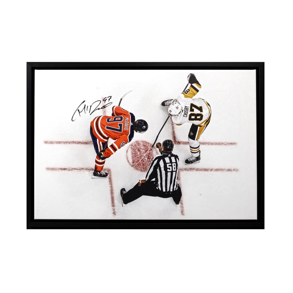 Connor McDavid #97 - Autographed & Framed Edmonton Oilers 20