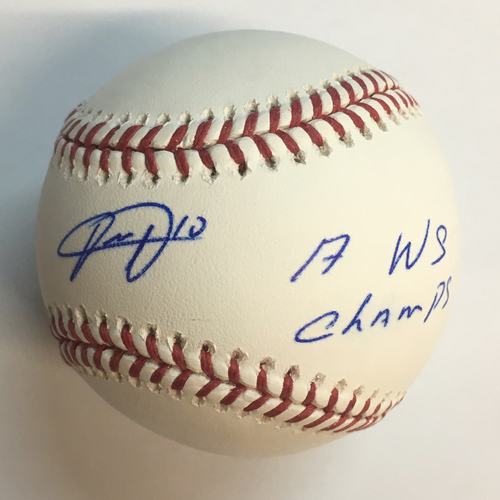 "Photo of Yuli Gurriel ""17 WSC"" Autographed Baseball"