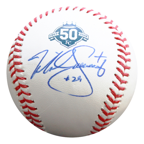 Photo of Autographed 50th Season Baseball: Mike Sweeney