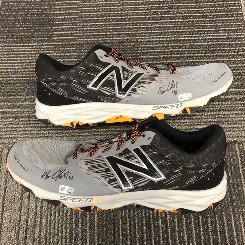 Photo of Autographed Work Out Shoes - #48 Steven Okert - Size 13