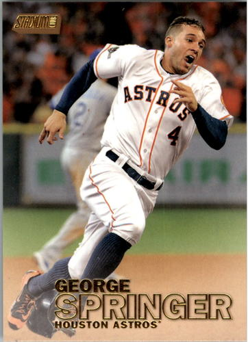 Photo of 2016 Stadium Club Gold #291 George Springer