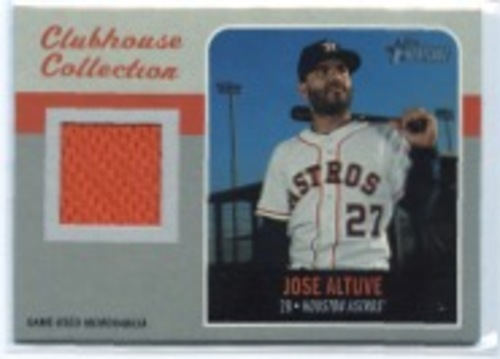 Photo of 2019 Topps Heritage Clubhouse Collection Relics #CCRJAL Jose Altuve HN
